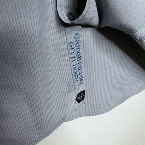 Roar Shirts - Roar strength refined embroidered cross gray blue